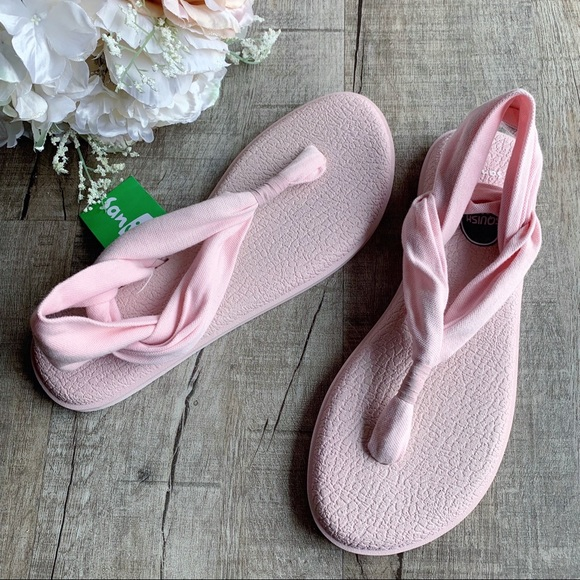 Sanuk Shoes Light Pink Sling Sandals Poshmark